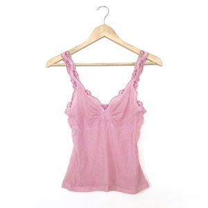 Tops - Pink Lace Camisole